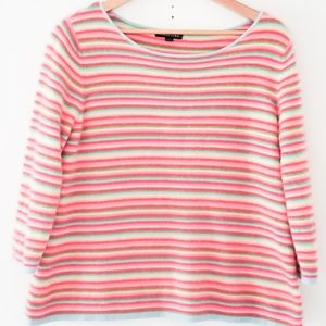 Lands' End kaschmir striped sweater 3/4 sleeve
